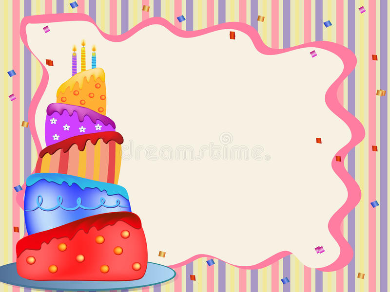Colorful birthday cake royalty free stock photography