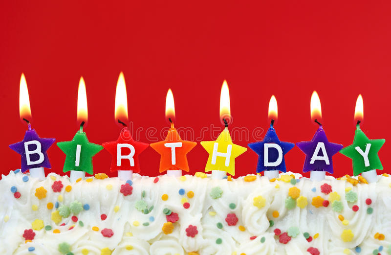 Download Colorful birthday candles stock image. Image of letter - 13844401