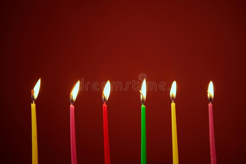 Download Colorful Birthday Candles In A Row Stock Photo - Image: 16284718