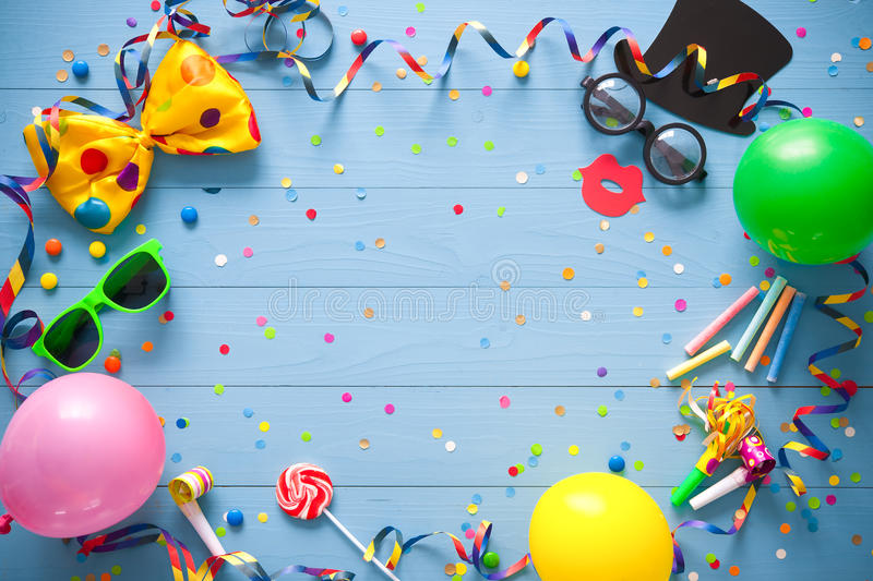 Colorful birthday or carnival background stock photos