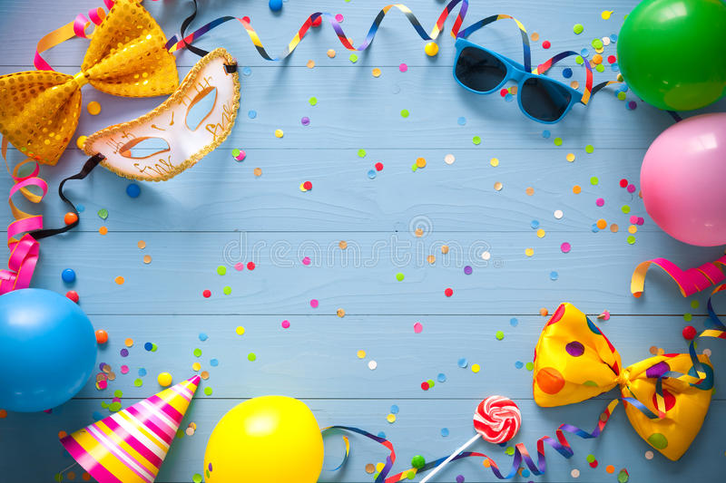 Colorful birthday or carnival background royalty free stock image