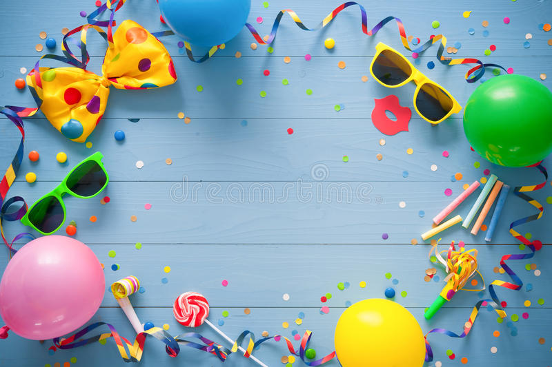 Colorful birthday or carnival background royalty free stock photos