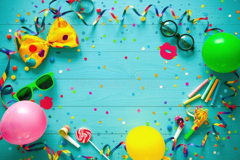 Colorful birthday or carnival background royalty free stock photo