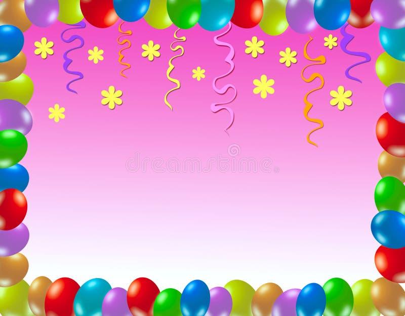Colorful birthday frame stock illustration. Illustration of festive ...