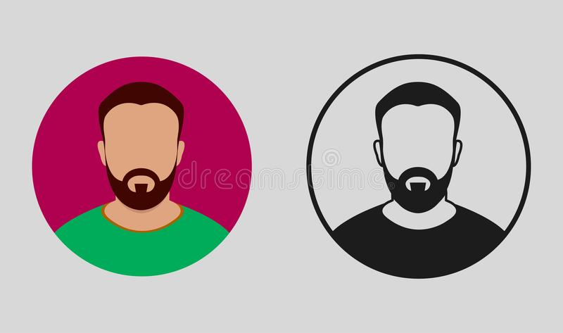 Colorful and black Male Icon vector illustration
