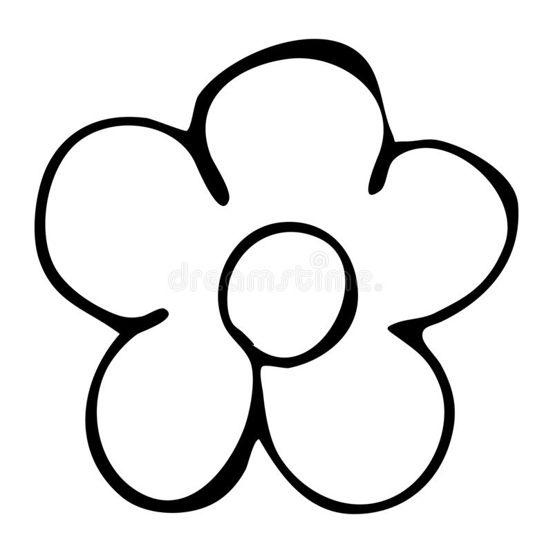 Colorful Black And White Pattern For Coloring Daisy Flower Illustration Stock Illustration Illustration Of Etching Curve 177719637