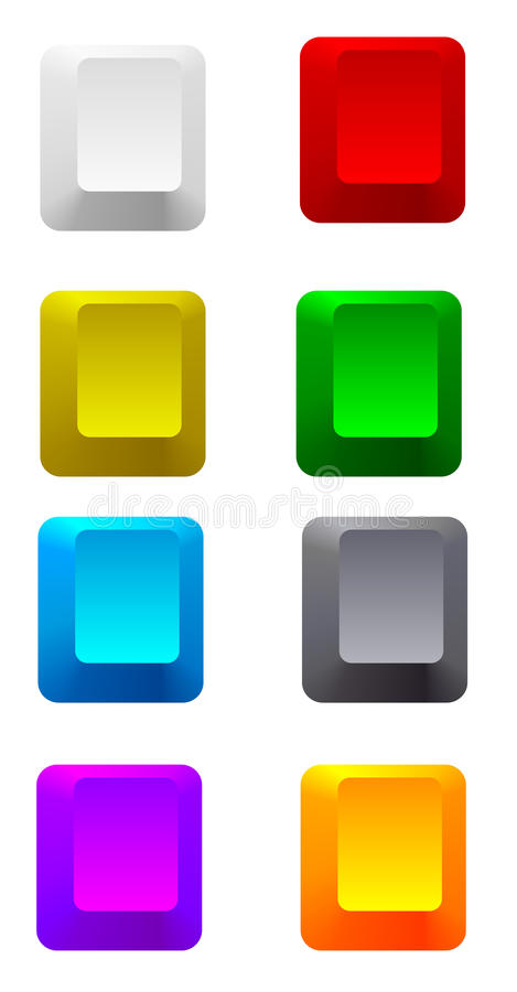 Colorful blank keys