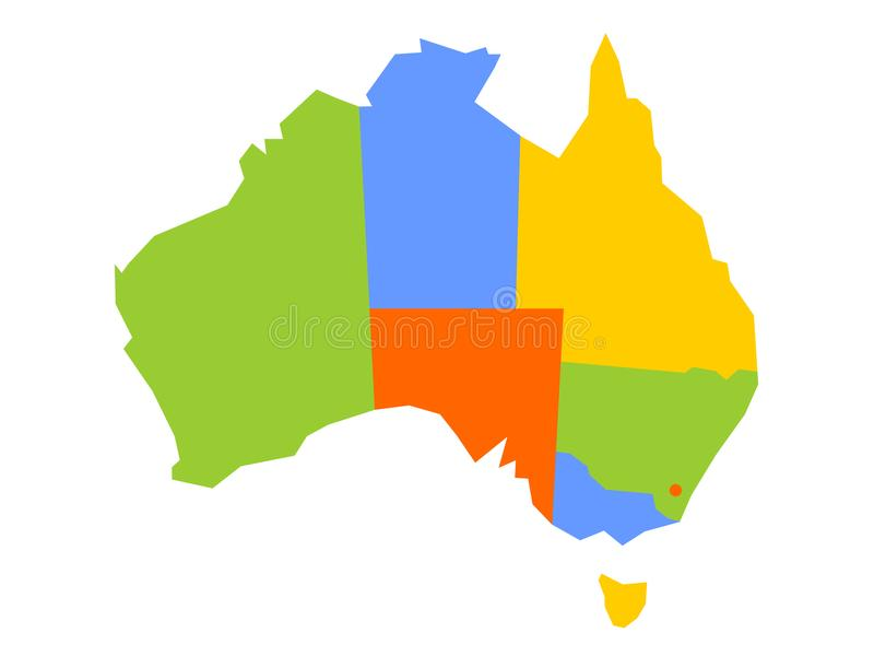 download colorful blank map of australia vector illustration stock vector illustration of australian