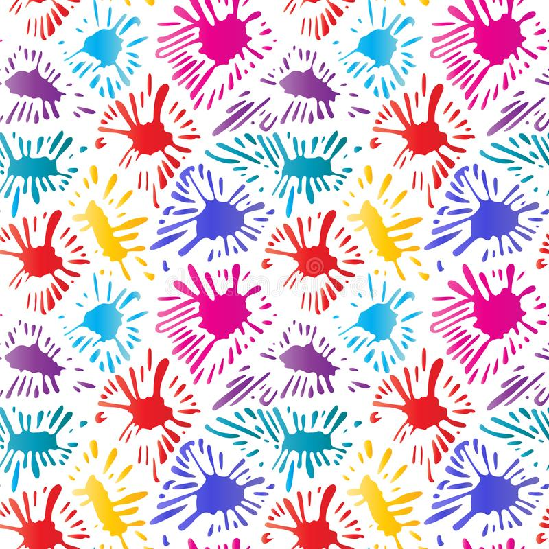 Colorful blobs of paint. Color Ink splat. Colorful blobs of paint. Color Ink splat royalty free illustration