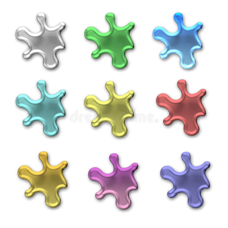Download Colorful Blobs Or Splotches Stock Illustration - Image: 8075238