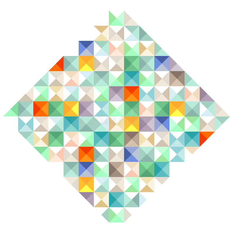 Colorful blocks illustration stock illustration