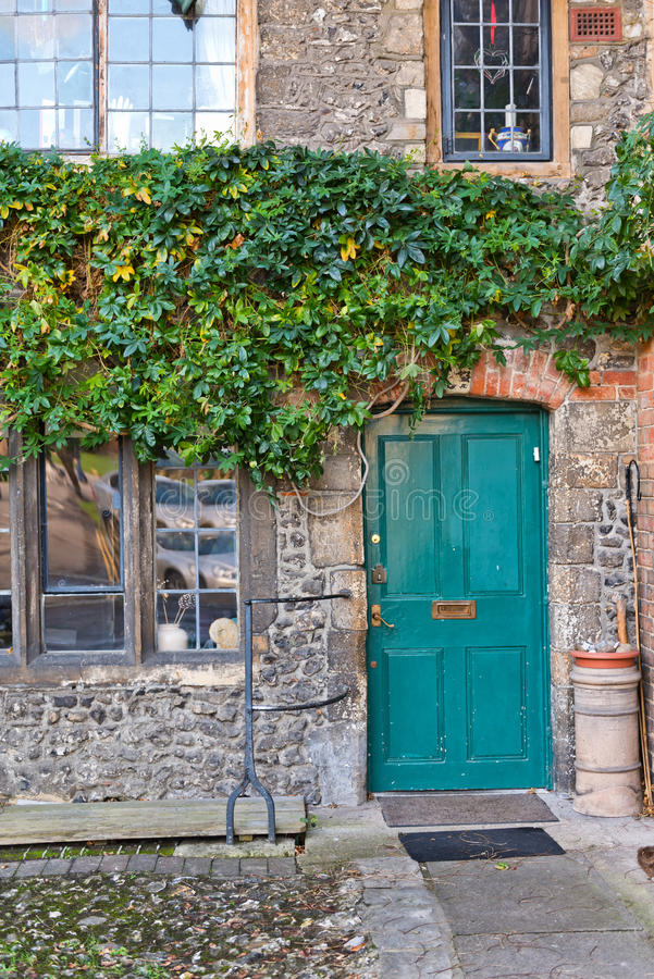 Free Colorful Blue Door In An Old Stone Building Royalty Free Stock Photos - 66984408