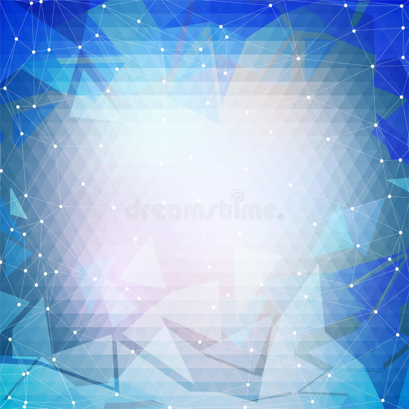 Colorful blue geometric background, abstract. Triangle pattern vector vector illustration