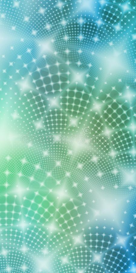 Colorful blue green white glowing fractal stars abstract wallpaper background vector illustration