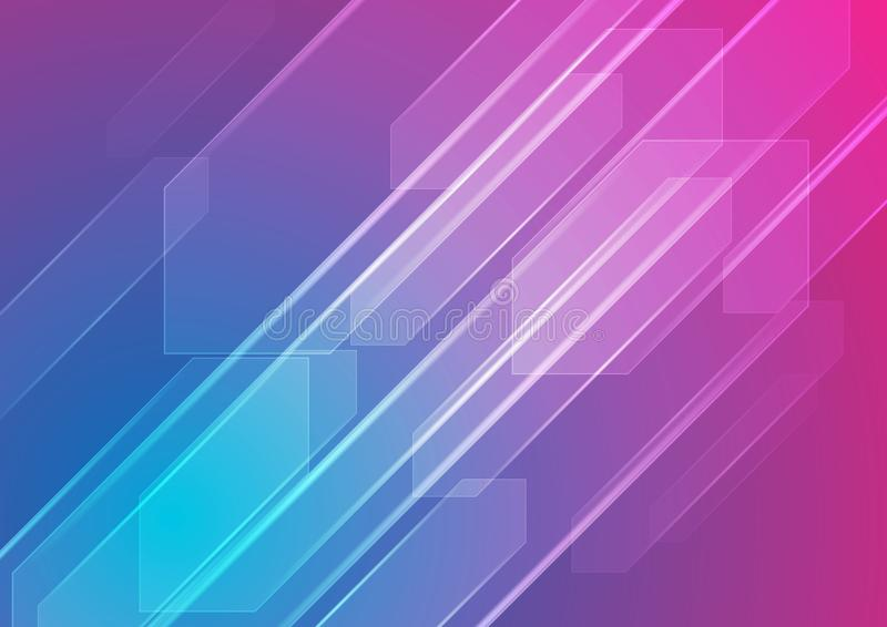 Colorful blue and purple abstract tech background royalty free illustration