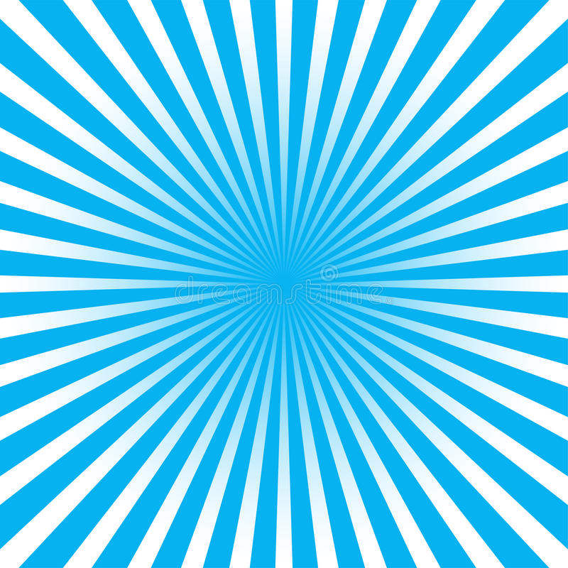 Colorful blue ray sunburst style abstract background stock illustration