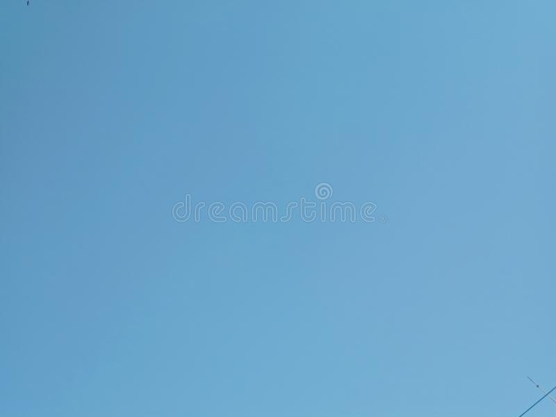 Colorful blue sky for background and texture royalty free stock image