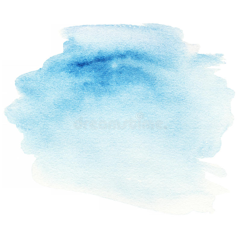 Colorful blue watercolor splash background. Abstract ink spot royalty free illustration