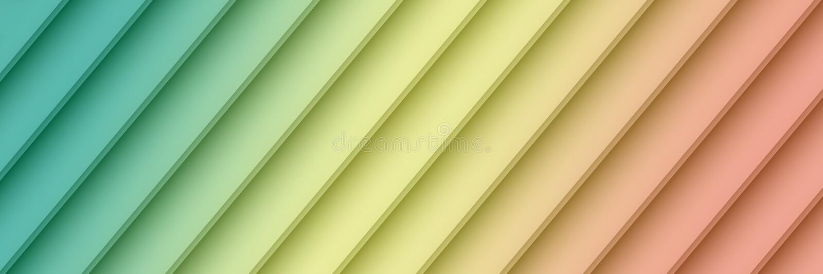 Colorful blue yellow pink geometric diagonal lines abstract banner wallpaper background royalty free illustration
