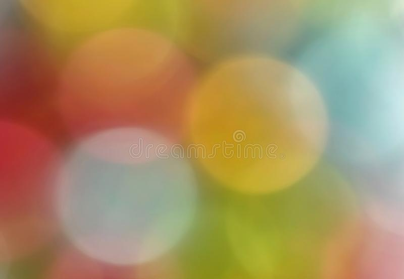 Colorful blurred Christmas lights royalty free stock photography