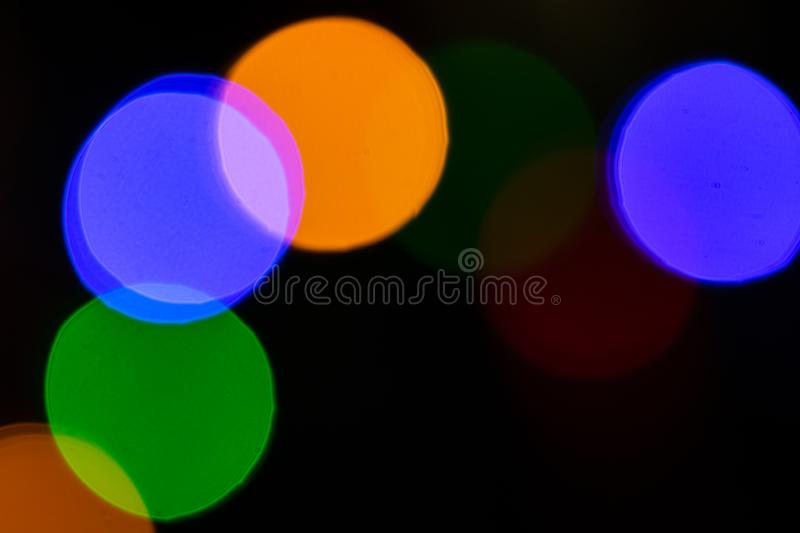 Colorful blurred christmas lights. Christmas background.  royalty free stock image