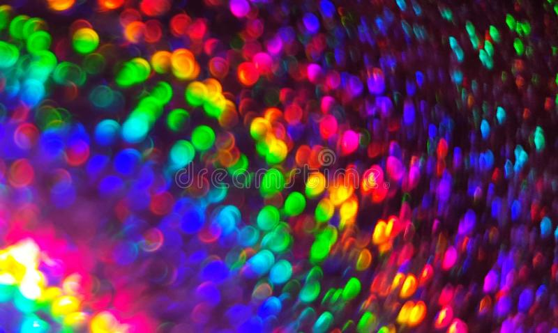 Colorful blurred lights background stock images