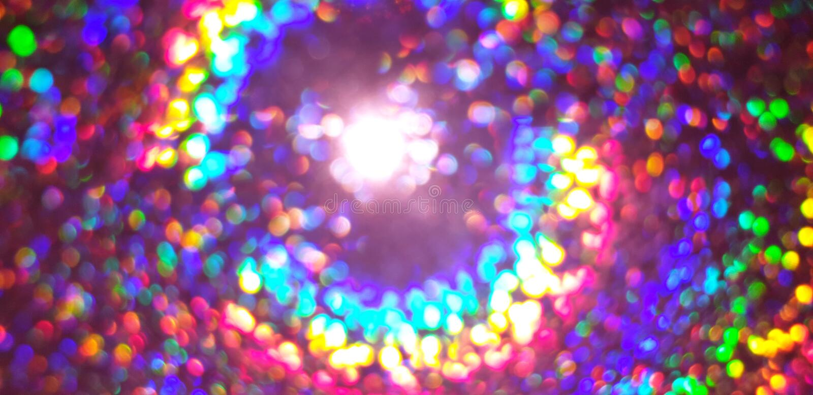 Colorful blurred lights background stock photography
