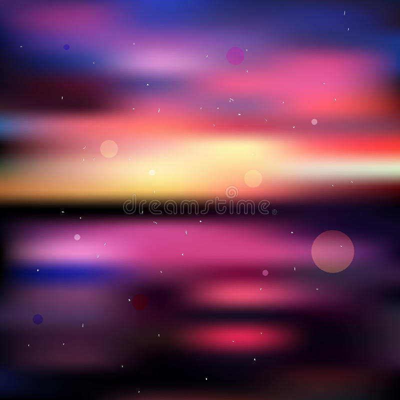 Download Colorful Blurred Sunset Background Stock Vector