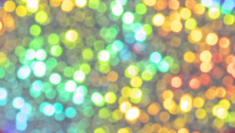 Bright and colorful bokeh background. Colorful blurred wallpaper, bright and vivid bokeh background abstract christmas art backdrop beautiful beauty blink blue royalty free stock photo