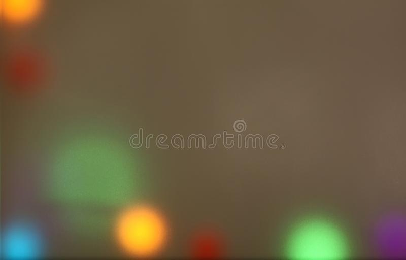 Colorful blurry lights. Warm colours behind sandblasted glass creating a blurry lighting background. Conceptual image of cozy atmosphere and nostalgic mood royalty free stock photos