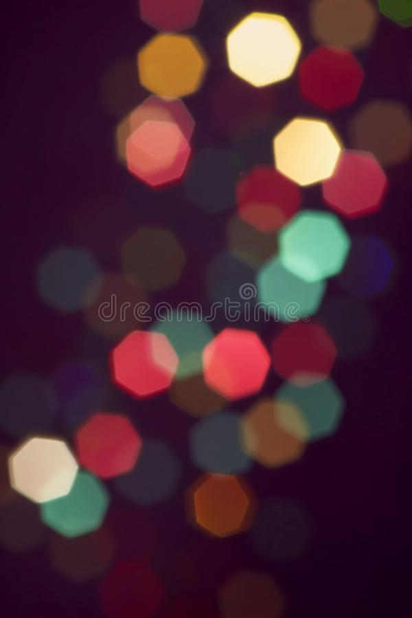 Colorful blurry stars stock images