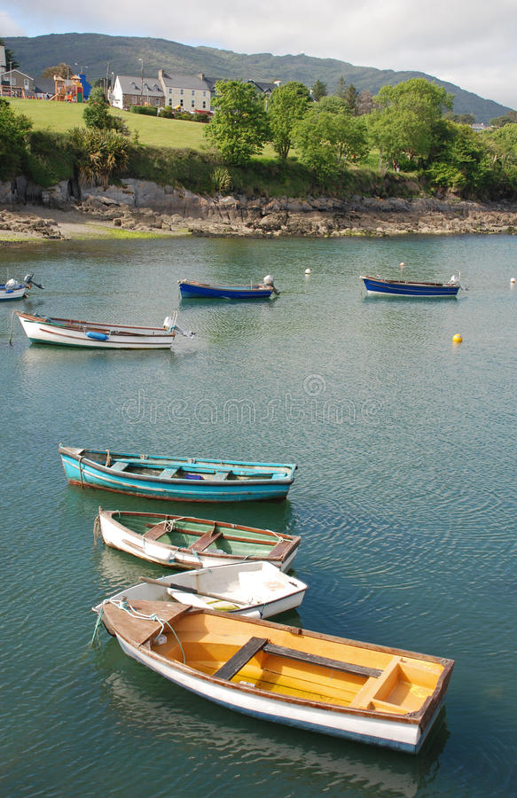 Download Colorful boats in Ireland stock image. Image of fish - 10775041