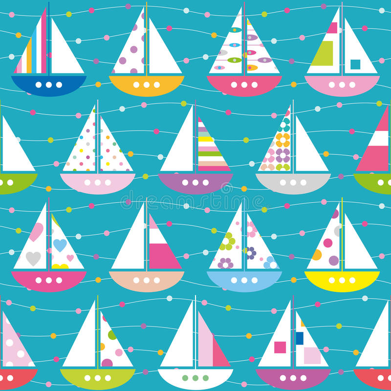 Free Colorful Boats Pattern Stock Photography - 38563812