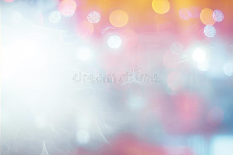 The Colorful bokeh blurred abstract pattern background stock images