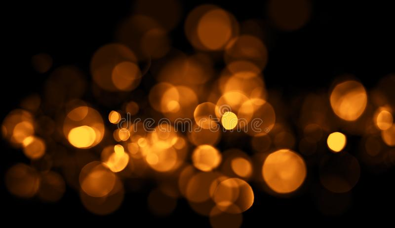 Perfect abstract gold bokeh for background. Glitters light royalty free stock photo