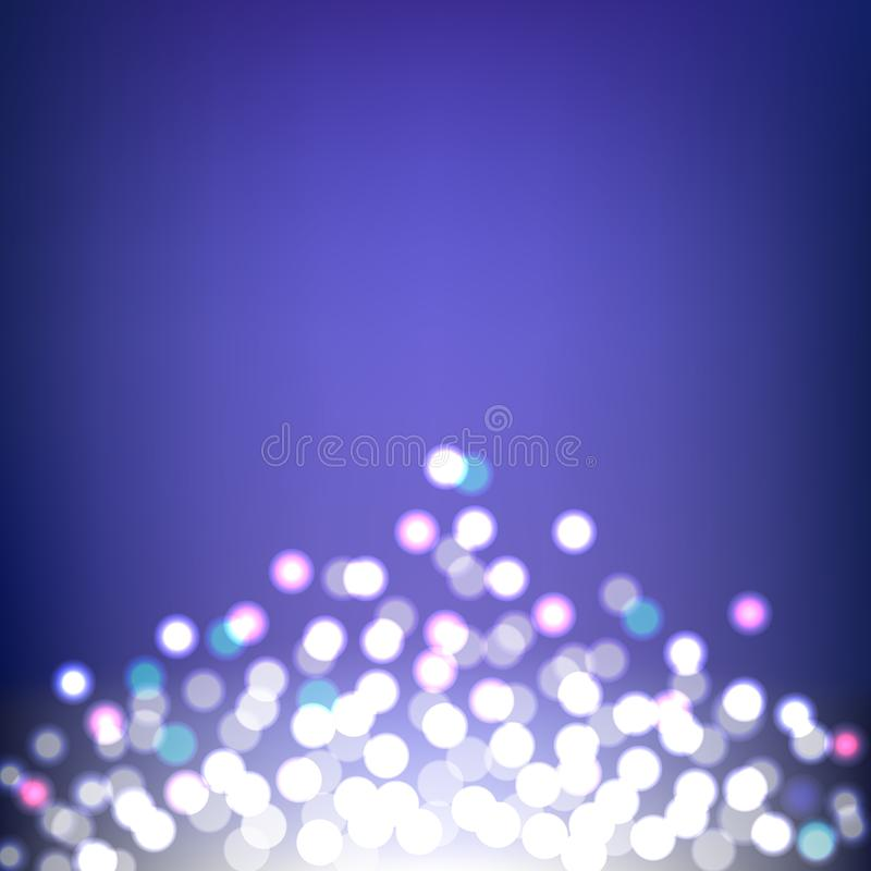 Colorful Bokeh and Lights abstract background stock illustration