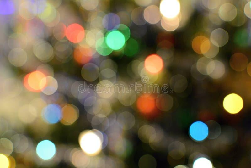 Colorful bokeh lights stock photo