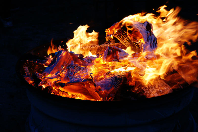 Colorful Bonfire Stock Images