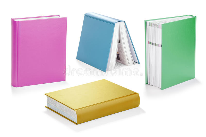 colorful book set with clipping path stock photo image of fresh