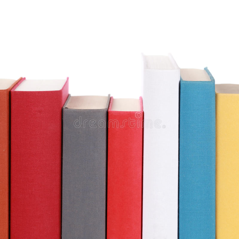Free Colorful Book Spines Stock Image - 28195351