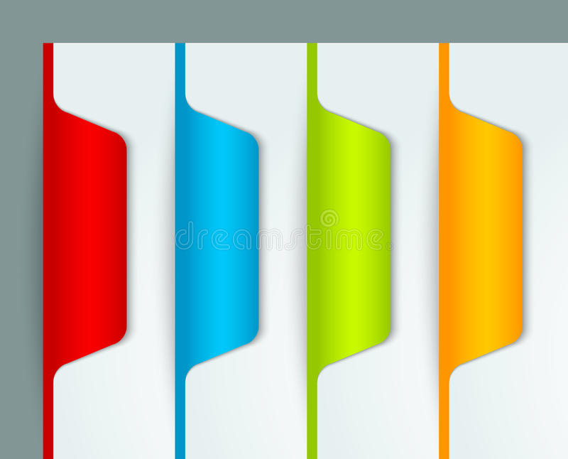 Download Colorful bookmarks stock vector. Image of banner, badge - 27103914
