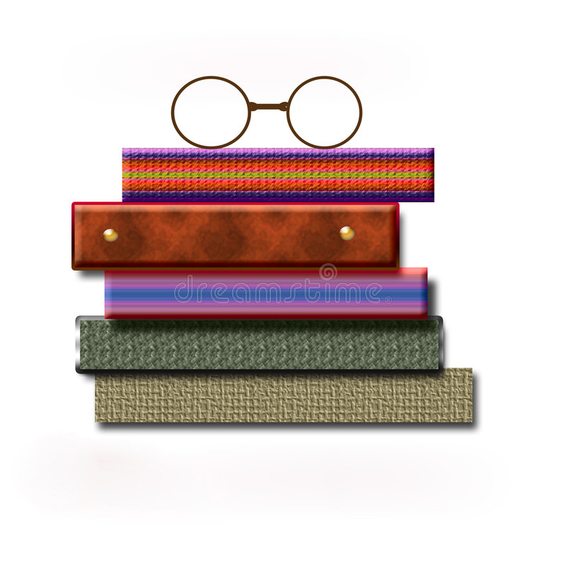 Free Colorful Books And Glasses Royalty Free Stock Image - 1924636