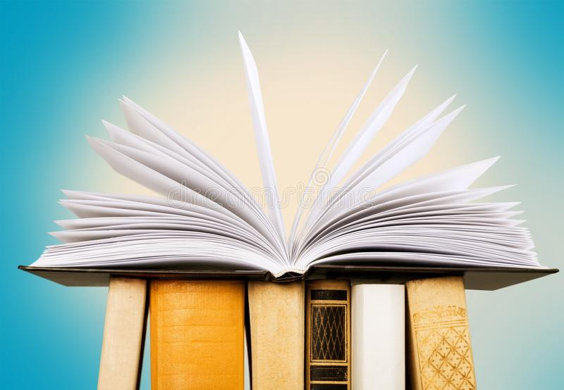 Colorful books collection, close-up view. Colorful collection books background nobody paper closeup stock image