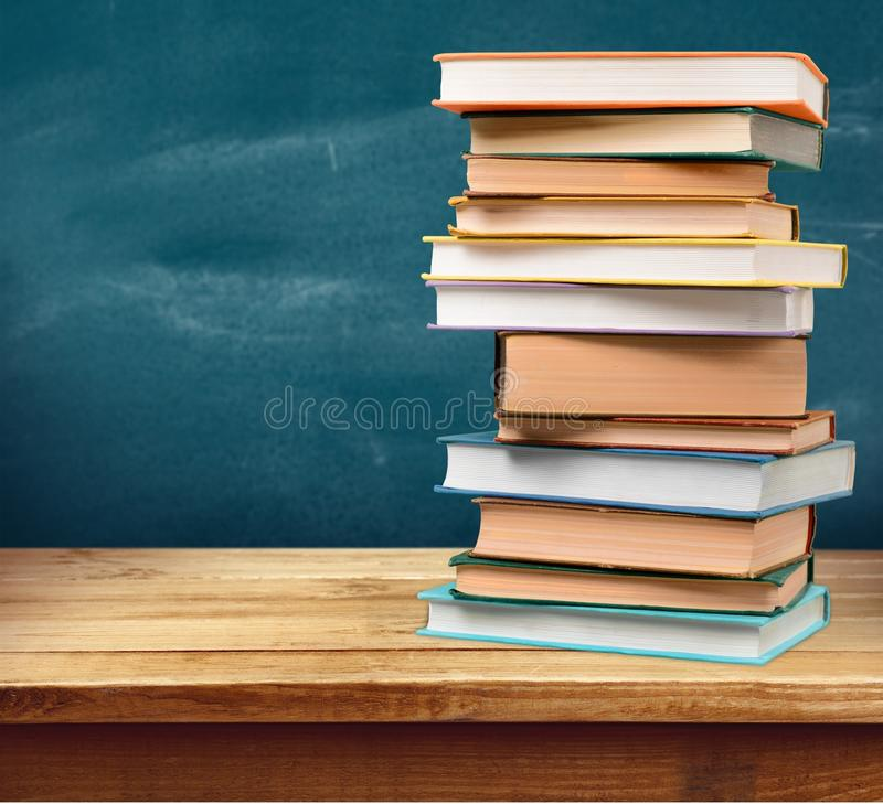 Colorful books collection, close-up view. Colorful collection books background nobody paper closeup royalty free stock photography
