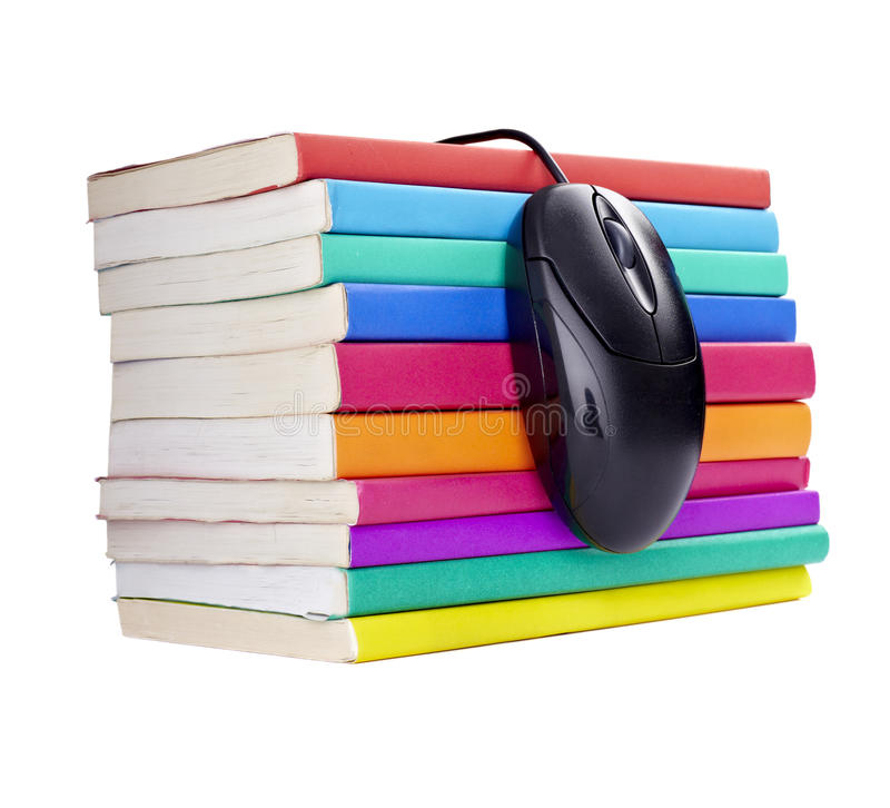 Download Colorful Books Computer Mouse Royalty Free Stock Photography - Image: 14368717