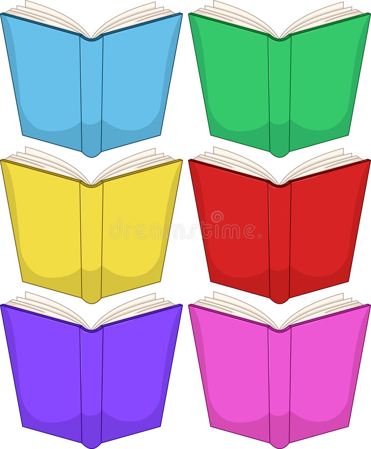 Colorful Books Pack royalty free illustration