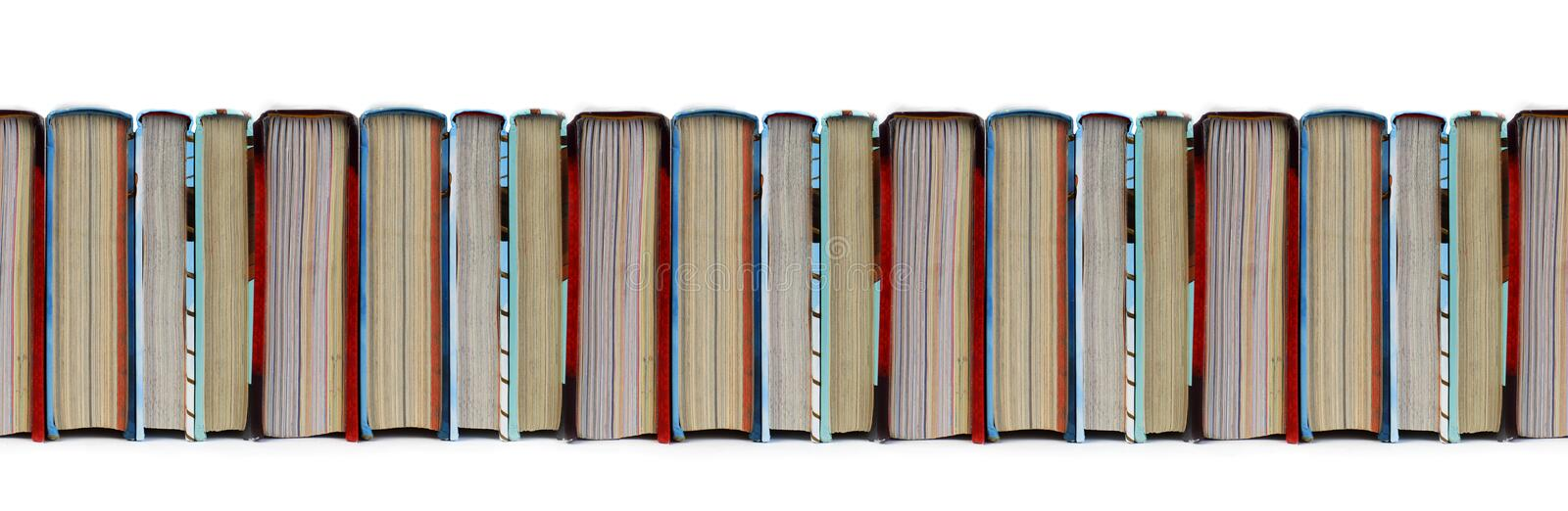 Colorful Books in a row seamless pattern royalty free stock photography