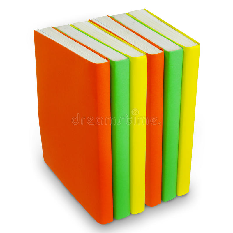 Download Colorful Books On White Background Stock Image - Image: 24666951