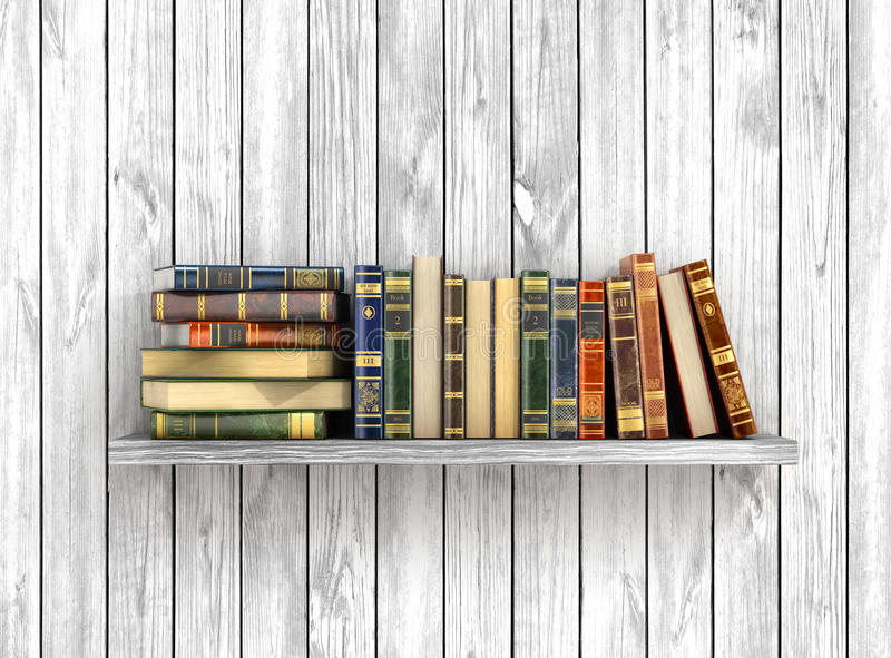 Colorful books on the vector illustration