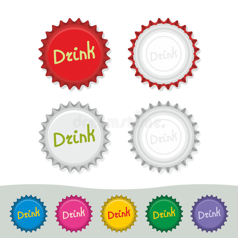 Free Colorful Bottle Caps Royalty Free Stock Image - 42811706